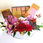 Flower Basket with Godiva Items